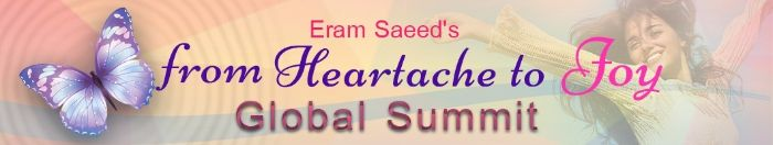 Did you miss Tarek's latest interview with Eram on the From Heartache to Joy Global Telesummit?  If so, here's another chance to hear it.  Be sure to tune in:  Thursday, January 19th at 1:00 p.m. Eastern  Listen here:    As always, It's packed with amazing, free #InfinityHealings!