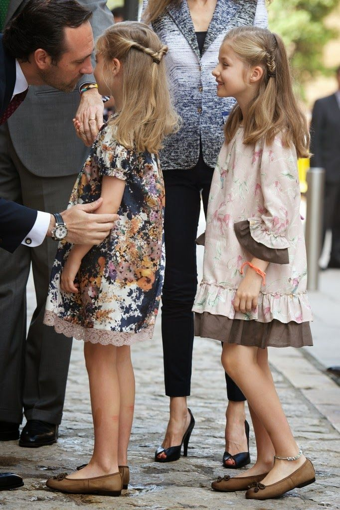 20 April 2014 Spanish Royal Family attended the Easter Mass at the Cathedral of Palma de Mallorca in Palma de Mallorca