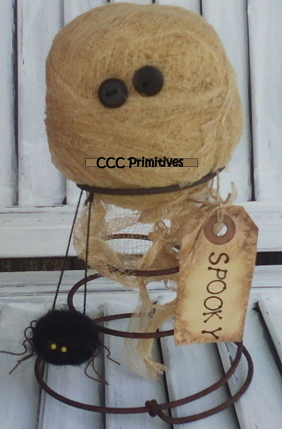 Mummy Nodder  Primitive Fall Decor  Primitive by CCCPrimitives, $22.00