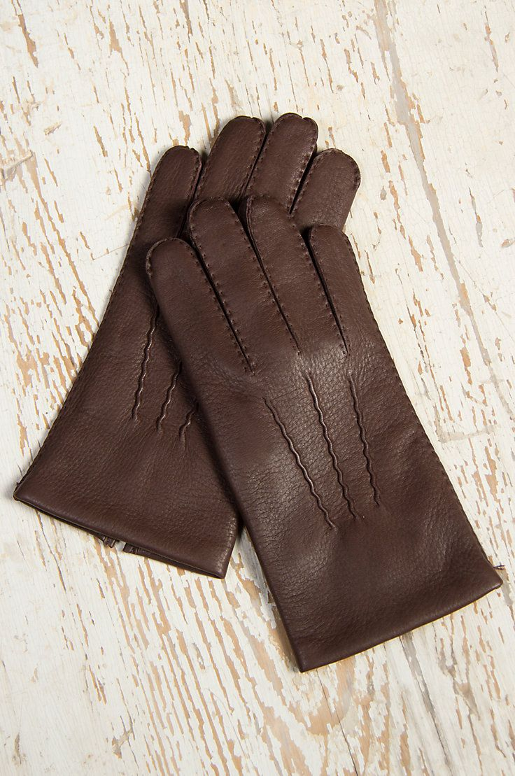 Mens leather gloves dents - Men S Dents Deerskin Leather Gloves With Cashmere Lining
