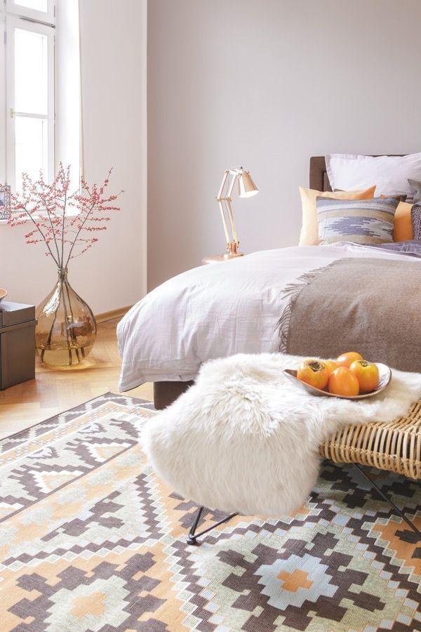 Wandfarbe Cappuccino Blumige Ideen Furs Schlafzimmer Auf Dem