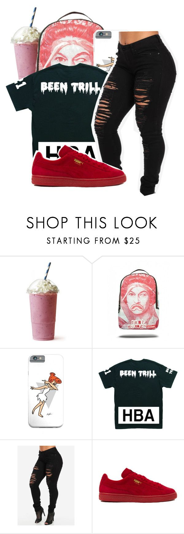 """I'll milly rock on any block..."" by shilohluvsu ❤ liked on Polyvore featuring Puma"
