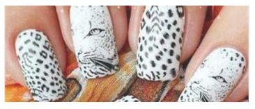 Leopard Print Nail Transfer