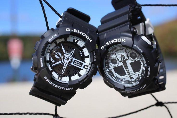 G-Shock Black & White GA-110BW-1AE & GA100BW-1A-2