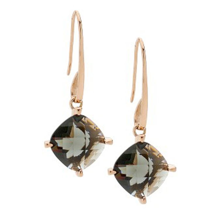 Pastiche Black Crystal Drop Earrings