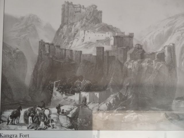 An illustration of Kangra Fort. rare photo travelngossip.blogspot.in/2013/10/rare-and-ancient-photos-interesting.html