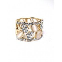 #Anillos dorados con #brillantes y cristales de ojo de gato - Ultima moda para #compras #online - #complementos #accesorios