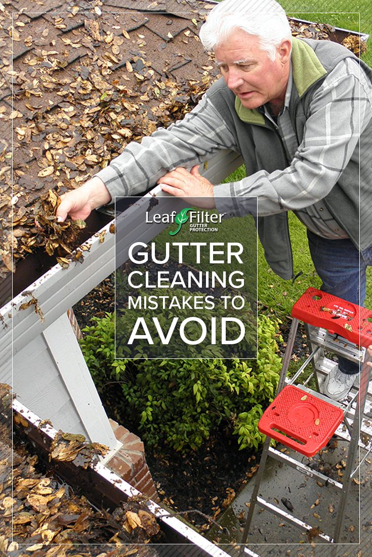 Are you dealing with clogged gutters? If you're thinking of cleaning gutters yourself, you may want to think again and call the professionals at #LeafFilter. Don't believe us? Check out all these Gutter Cleaning Mistakes to Avoid to learn just how dangerous of a job it is.