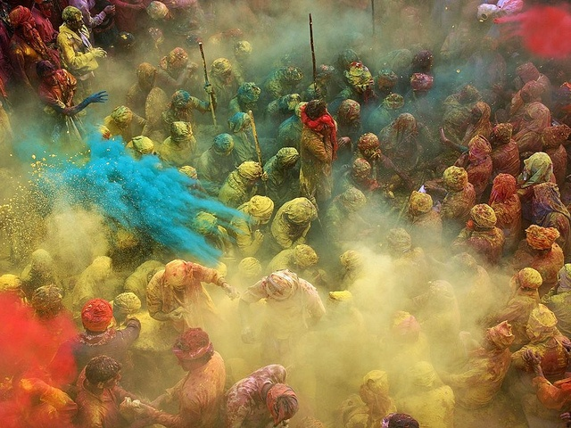 "National Geographic ""Photo of the Day"" by Anurag Kumar, titled Holi Celebration in India."