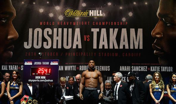 Joshua vs Takam schedule: Fight timings and undercard details before Anthony Joshua fight
