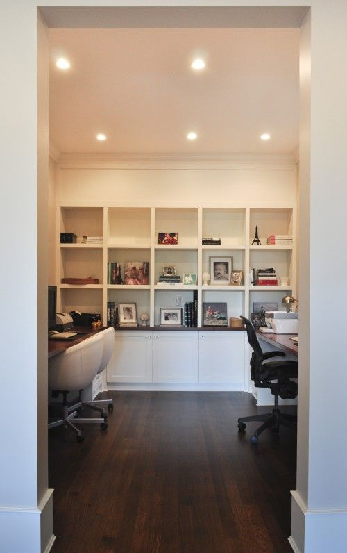 home office ideas for two. home office for two with builtin shelves ideas