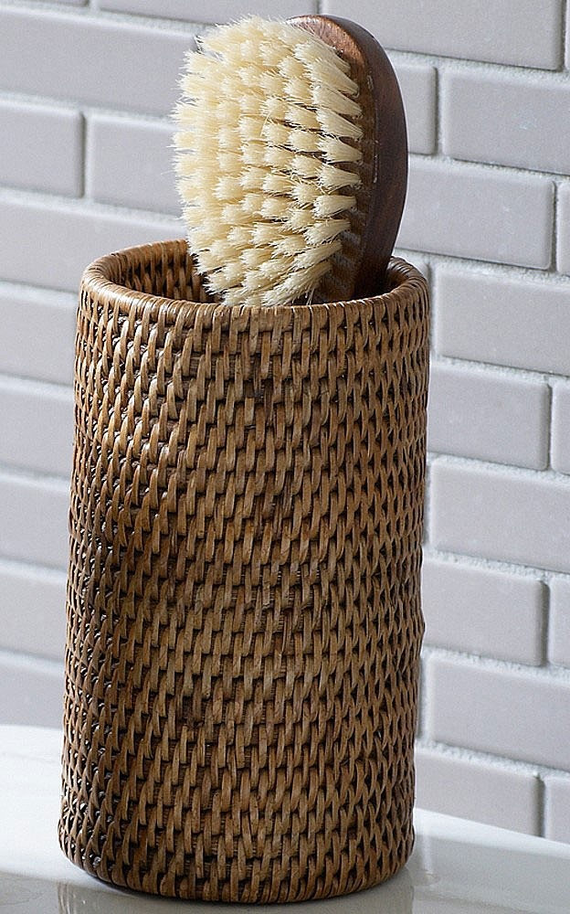 Contemporary Art Sites Tall Rattan Pot