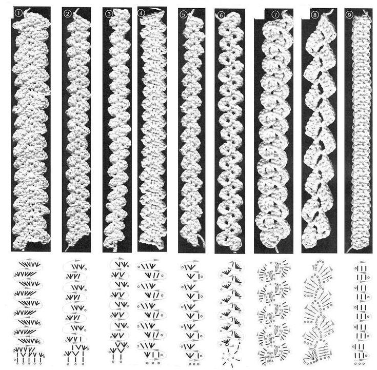 MACRAME' RUMENO - POINT LACE: TRINE UNCINETTO (con schemi)