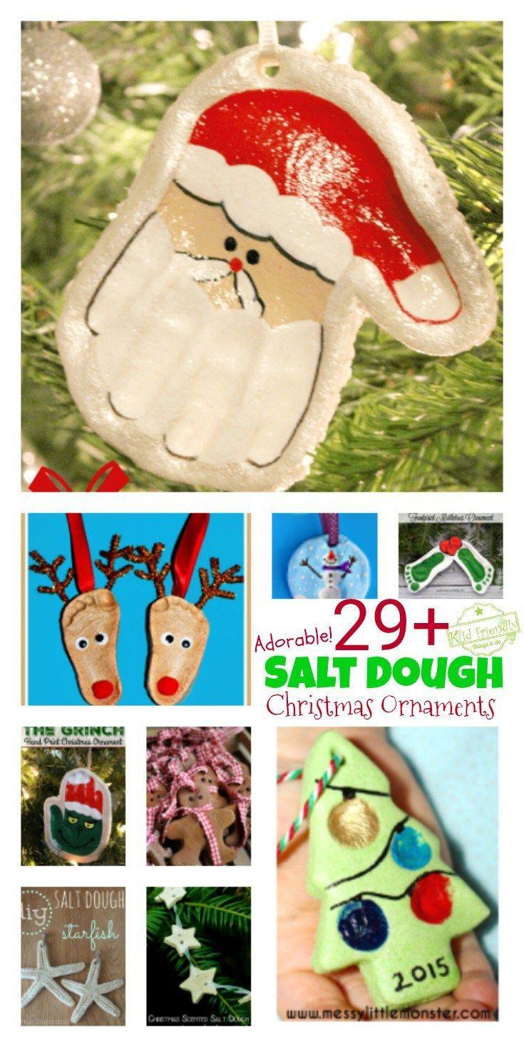 Over 29 Diy Homemade Salt Dough Ornaments For The Kids To Make This Christmas Salt Dough Christmas Ornaments Christmas Crafts Decorations Homemade Christmas Ornaments Diy