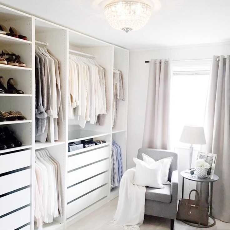 Walk In Closet Sneak Peek Living Space Ikea Wardrobe Ikea Pax Ikea 'pax' Open Closet @golden_ellie | Bedroom | Pinterest