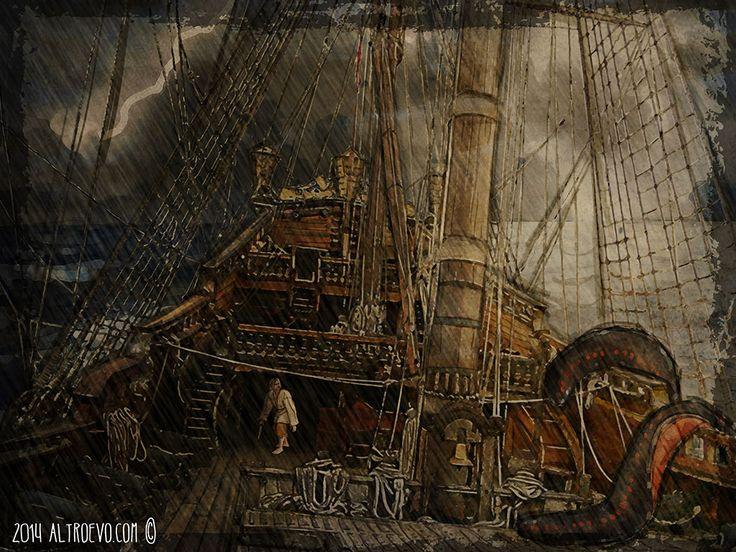 Un brutto guaio per Gillean Conroy! Digital painting per Il Giorno del Drago