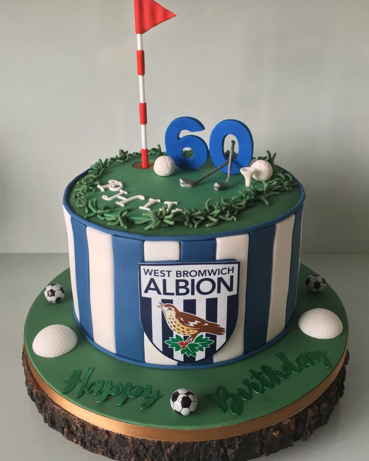 West Bromwich football & Golf Birthday Cake