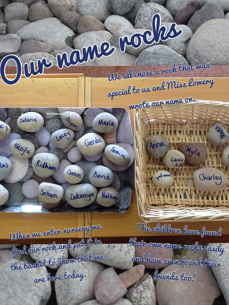 Name rocks inspired by Rache