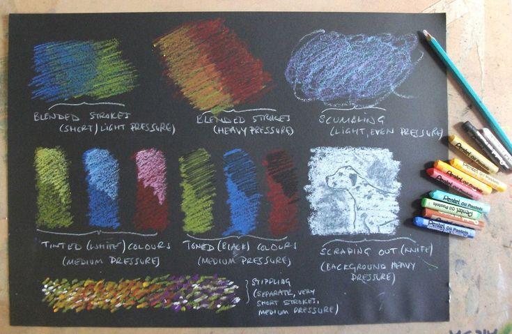 Oil Pastel Techniques | Pastel Painting, Lyndhurst, Gateshead: Oil Pastels - basic techniques