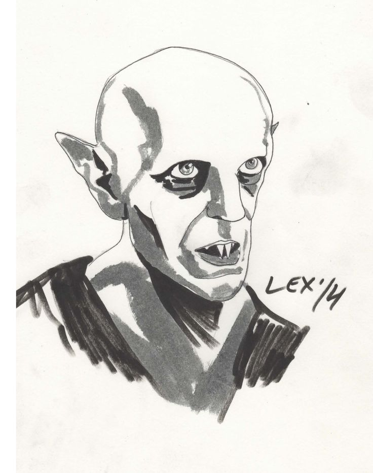 Max Schreck as Nosferatu Marker Sketch