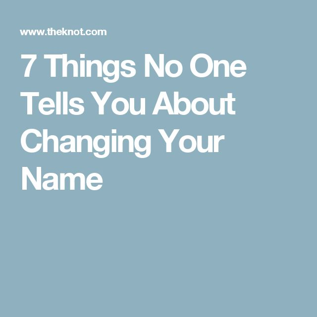 7 Things No One Tells You About Changing Your Name