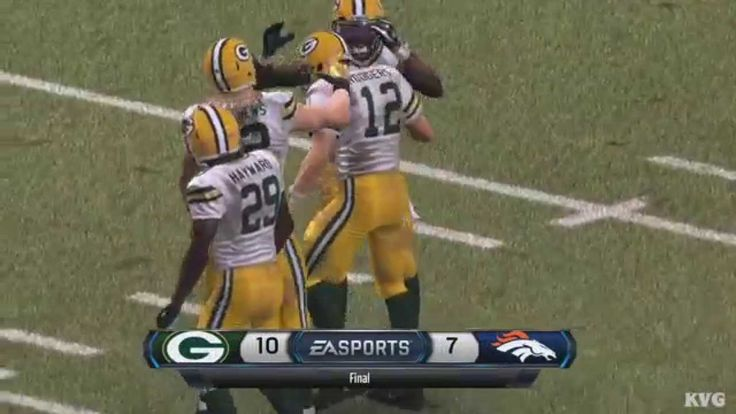 Madden NFL 16 - Green Bay Packers vs Denver Broncos Gameplay ...