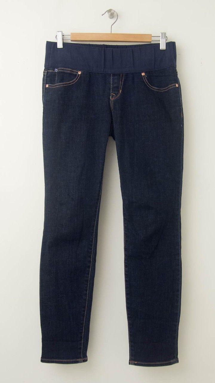 b388937d8c024 Dark Blue GAP 1969 Always Skinny Capri Maternity Jeans (Like New- Size  29/8) - Motherhood Closet - Maternity Consignment