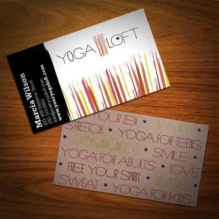 eco friendly yoga business cards