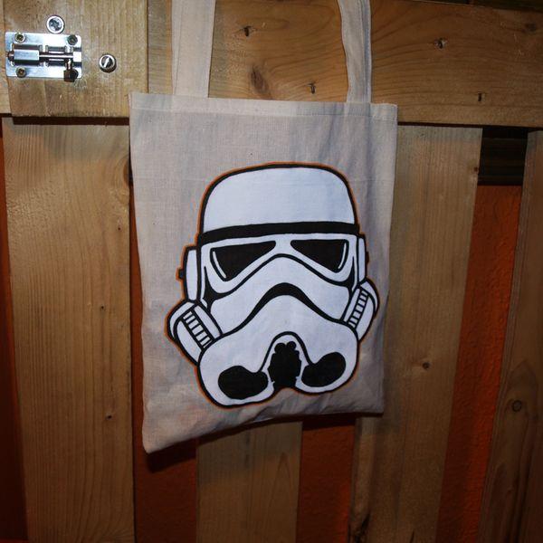 Stormtrooper Tote Bag de Mr. Rancio! Ilustración por DaWanda.com #handmade #totebag #starwars