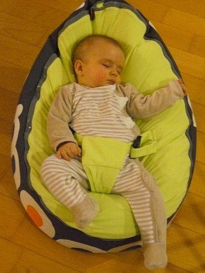 bébé dans son Doomoo Nid Babymoov