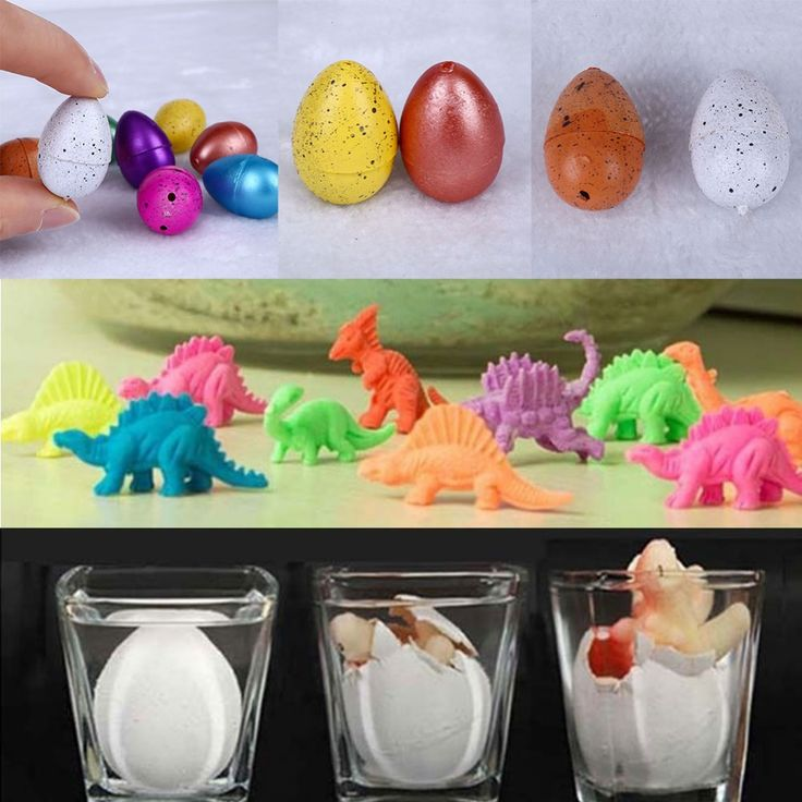 10 pcs Magic Hatching Growing Dinosaur Add Water Grow Dino Egg Children Kid Fun Funny Toys Gift Gadget