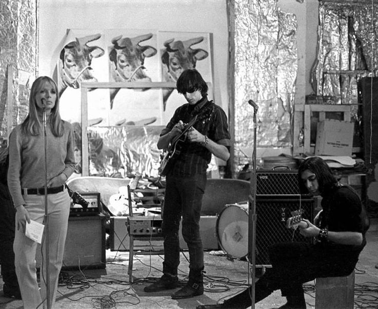 Nico jamming with John Cale and Sterling Morrison (Photo by Nat Finkelstein)