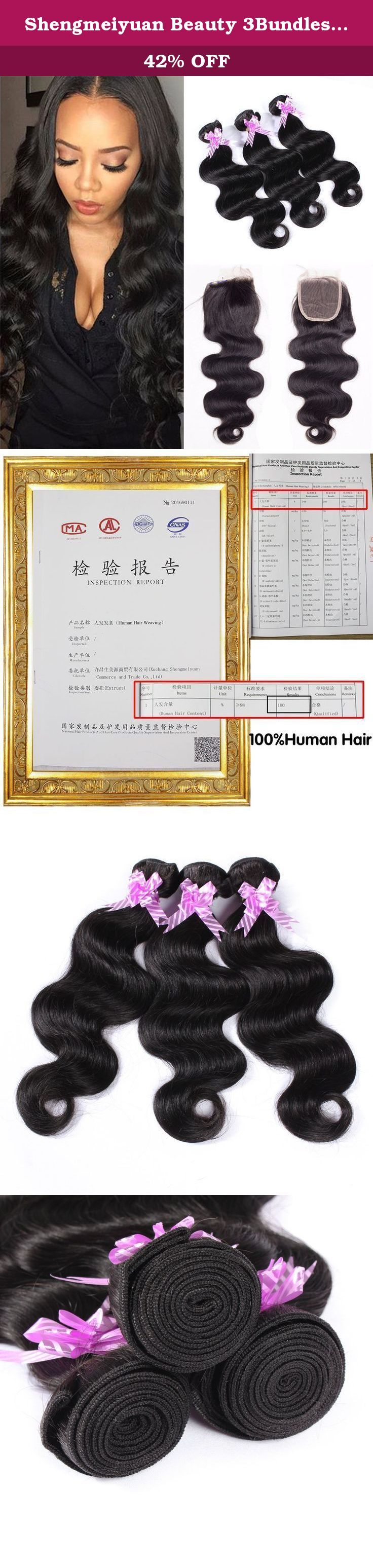 Shengmeiyuan Beauty 3Bundles Brazilian Body Wave Human Hair with Closure 100% 9A Unprocessed Brazilian Human Hair Weave Extensions Bundles (20 22 24 with 20inch). Brand Name: Shengmeiyuan Beauty Hair Hair Material: 100% Virgin Hair, Brazilian Body Wave Material Grade :9A Grade Virgin Brazilian Hair Hair Color: Natural Color Hair Style: Brazilian Body Wave Hair Extension Items per Package:Brazilian Hair 3 Bundles Hair Length: 8, 10, 12, 14, 16, 18, 20, 22, 24, 26, 28, 30 inches,Any Mix…