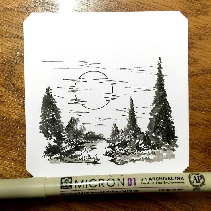 Derek Myers inspirational pen and ink artwork.