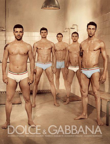 Italian Soccer Players for Dolce & Gabbana