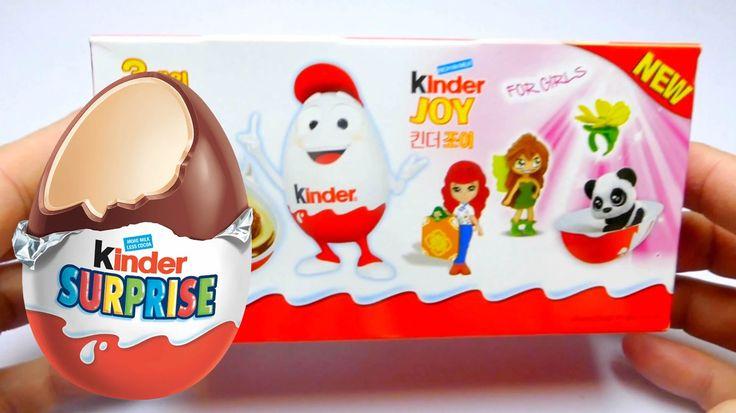 New Kinder Joy Surprise Eggs for Girls from Korea