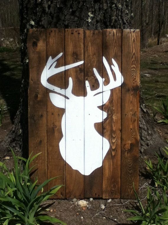 projects ideas dear head. Items similar to Painted Deer Head Wall Art on Etsy 14 best Redneck Sheek images Pinterest  Antlers mounts and