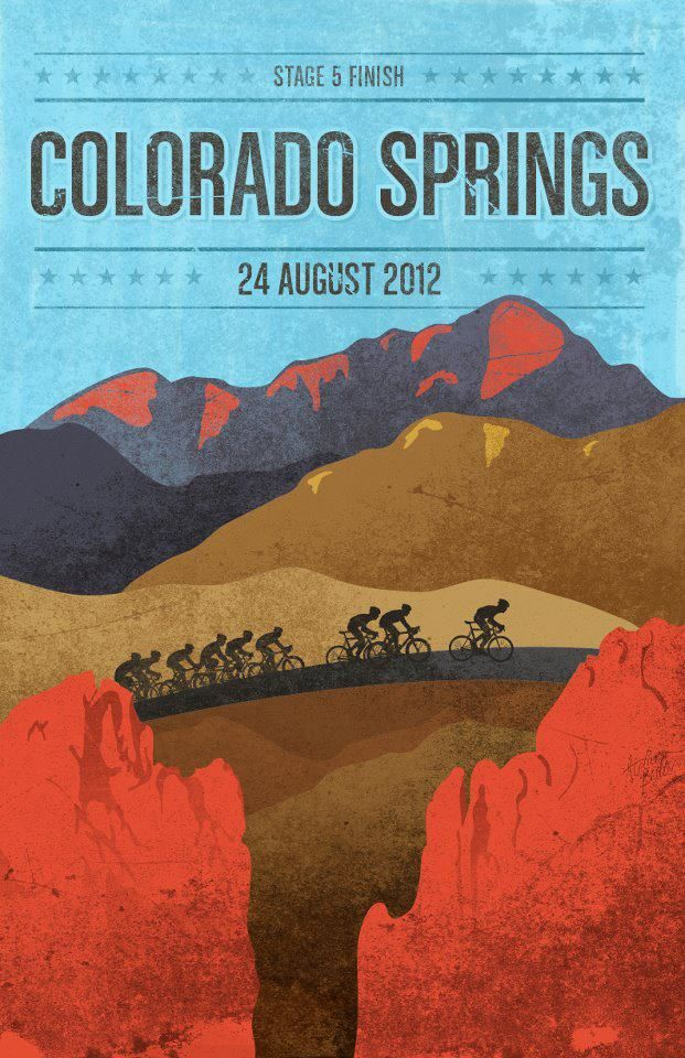 Designed by James Billiterfor the 2012 USA Pro Cycling Challenge - Colorado Springs, Colorado