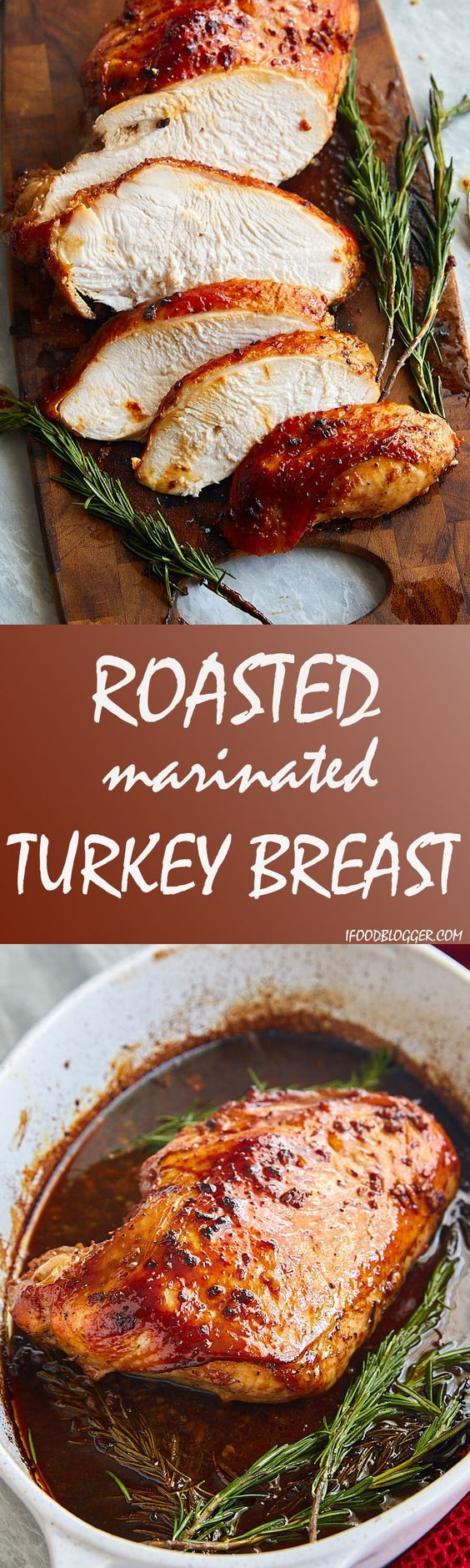 This roasted turkey breast will knock your socks off. It's not your typical turkey breast, it's roasted in a marinade that features Asian flavors and adds Worcestershire sauce and maple syrup for sweetness and more depth of flavor. If you are looking for an alternative to roasting a whole turkey for Thanksgiving, this recipe is a great option.