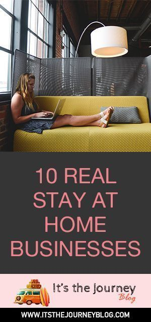 10 REAL Stay at Home businesses you can run!  Great ideas!