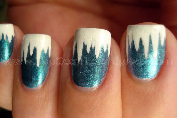 Icicles Nails - Winter Nail Art cute!