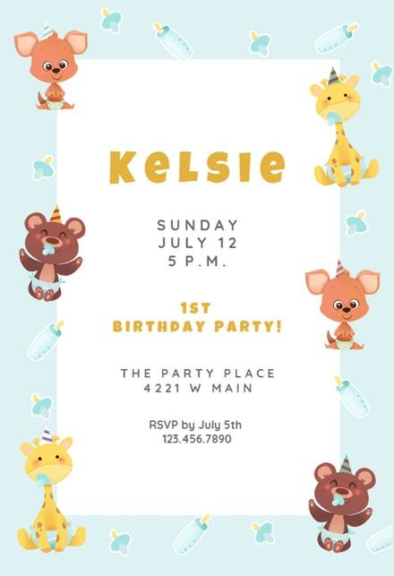 The 25+ best DIY birthday party invitation template ideas on - birthday invite templates free to download