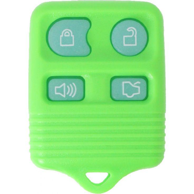 1998 - 2011 OEM Ford/Lincoln/Mercury 4 Button Keyless Entry Remote - Green Glow - CWTWB1U331/CWTWB1U345/GQ43VT11T