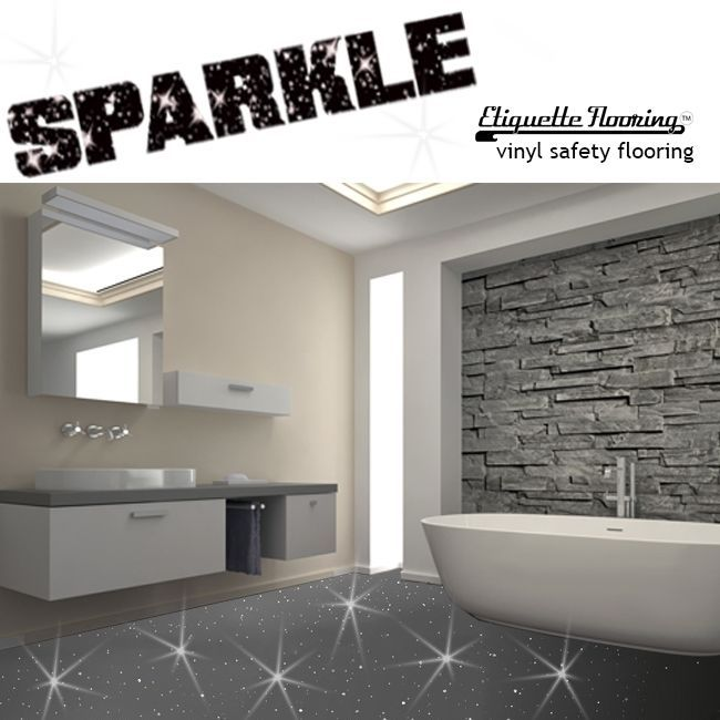 Sparkle flooring for bathrooms