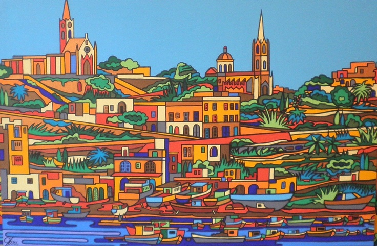 Mgarr, Gozo  Acrylics on wood  100cm by 72cm  600 Euros