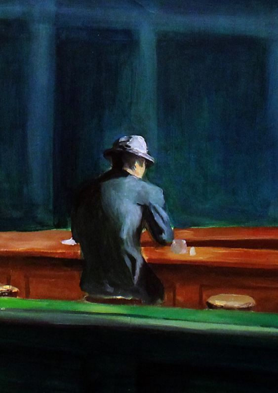 "Detail Of ""Nighthawks"" by Edward Hopper. Hopper one of my favourite painters ever!"