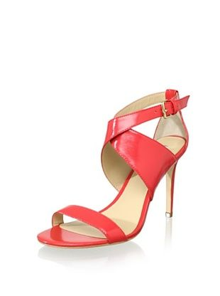 Charles David Women's Icon High Heel XX Sandal (Coral Patent)
