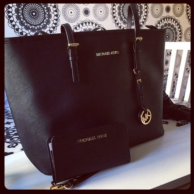 bags michael kors outlet n8qo  Michael Kors black tote and matching wallet-New laptop/school bag? bags  outlet mk purses cheap Michael Kors handbags WOW! love love love