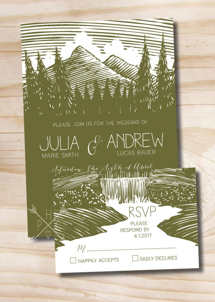 Best 25 Mountain wedding invitations ideas – Custom Wedding Invitations Canada