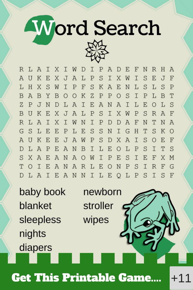 frog baby shower | Printable baby shower games    This printable frog baby shower game is so much fun and cute. Your baby shower guests will love to play this frog themed game!